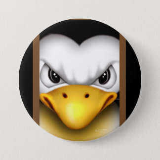 MAD PINGOUIN CARTOON Large, 3 Inch 3 Inch Round Button