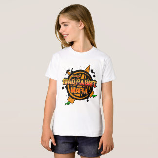 Mad Rabbit Girls' Organic T-Shirt, Natural T-Shirt