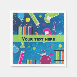 Mad Science Scientist Birthday Party Napkins Paper Napkin