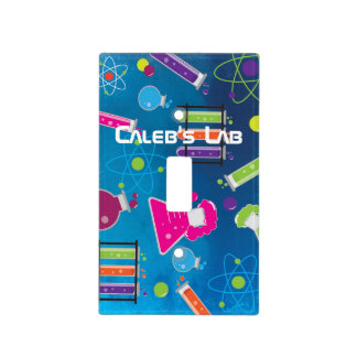 Mad Science Scientist Colorful Light Switch Cover