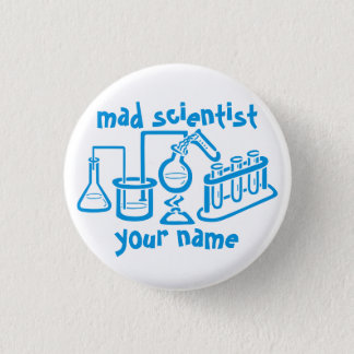 Mad Scientist 1 Inch Round Button