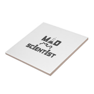 Mad Scientist Electric Science Beaker Ceramic Tile