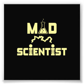 Mad Scientist Electric Science Beaker Photo Print