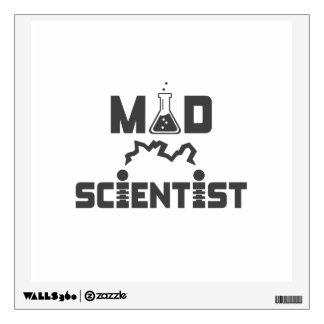 Mad Scientist Electric Science Beaker Wall Sticker