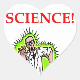 mad scientist heart sticker