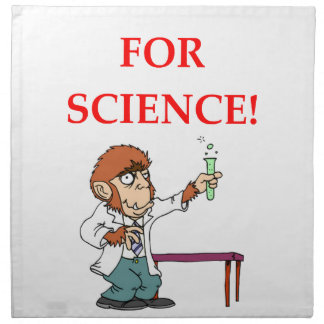 mad scientist napkin