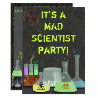 Mad Scientist Party Invitation