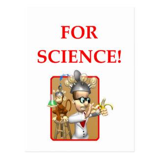 mad scientist postcard