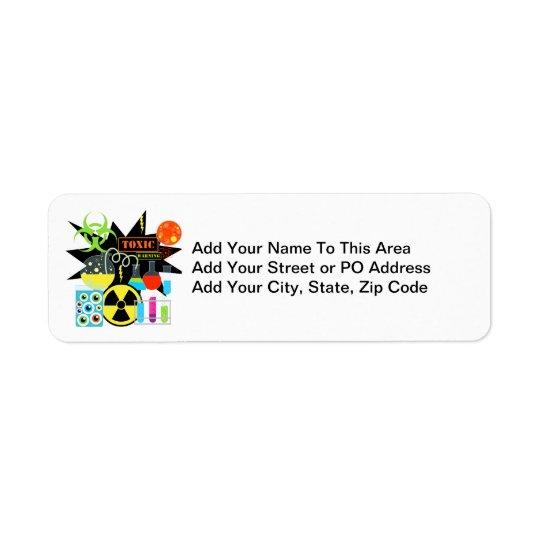 Mad  Scientist Return Address Label