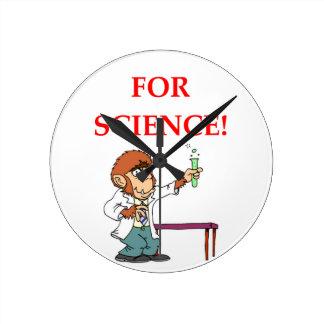 mad scientist round clock