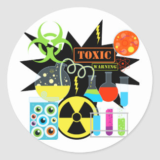 Mad  Scientist Round Sticker
