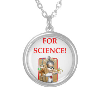 mad scientist silver plated necklace