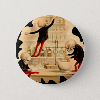 Mad Scientist Skeletons Doctor Pharmacy Drugs Lab 2 Inch Round Button