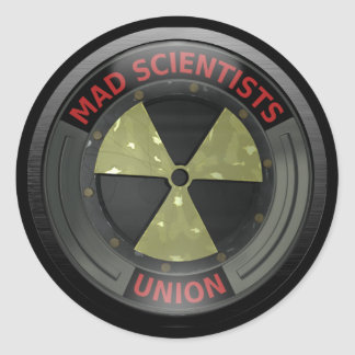 Mad Scientist Union Classic Round Sticker