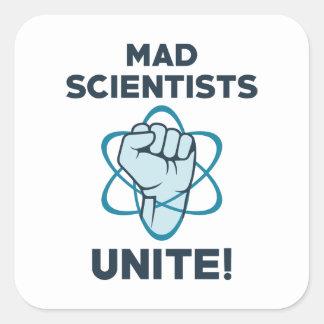 Mad Scientists Unite Square Sticker