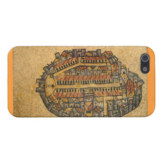 Madaba Mosaic Map Of Jerusalem iPhone 5/5S Cases