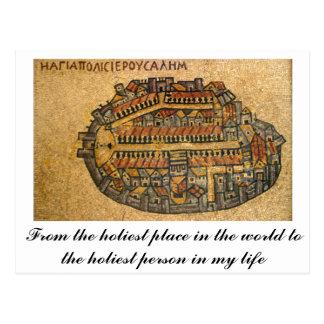 Madaba Mosaic Map Of Jerusalem Postcard