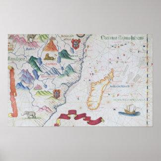 Madagascar and East African Coastline Poster
