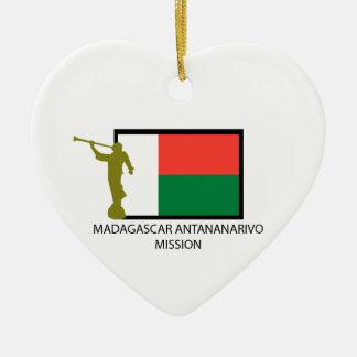 MADAGASCAR ANTANANARIVO MISSION LDS CTR CERAMIC ORNAMENT
