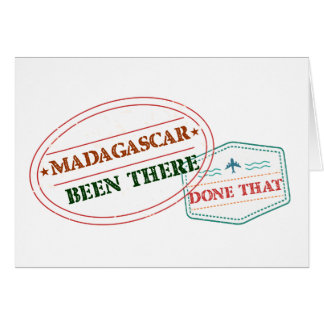 Madagascar Been There Done That Card