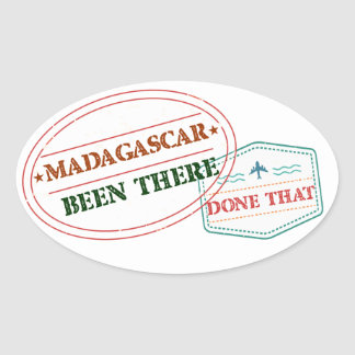 Madagascar Been There Done That Oval Sticker
