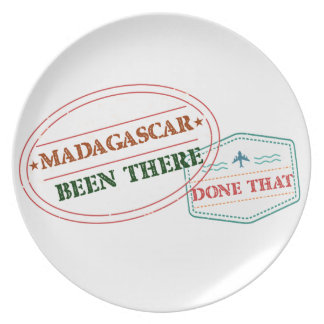 Madagascar Been There Done That Plate
