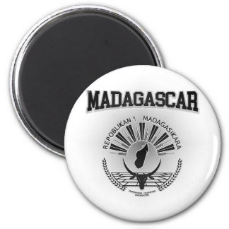 Madagascar Coat of Arms 2 Inch Round Magnet