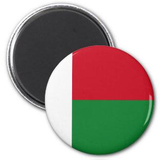 Madagascar flag 2 inch round magnet