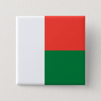 Madagascar Flag 2 Inch Square Button
