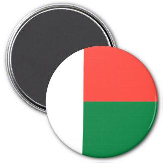 Madagascar Flag 3 Inch Round Magnet