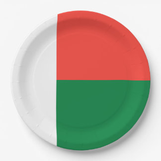 Madagascar Flag 9 Inch Paper Plate