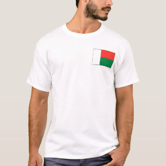 Madagascar Flag and Map T-Shirt