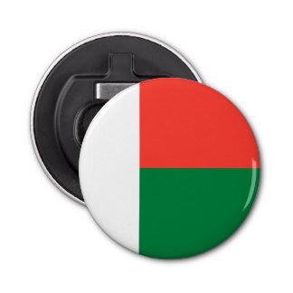 Madagascar Flag Button Bottle Opener