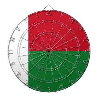 Madagascar flag dartboard