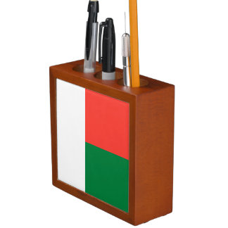 Madagascar Flag Desk Organizer