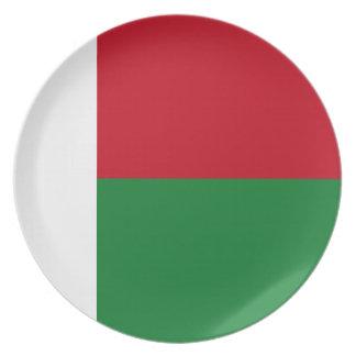 Madagascar flag dinner plate