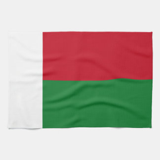 Madagascar flag hand towels