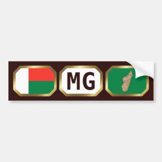 Madagascar Flag Map Code Bumper Sticker