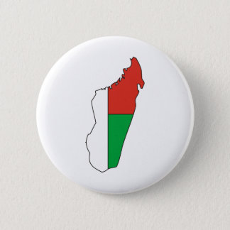 Madagascar Flag Map full size 2 Inch Round Button