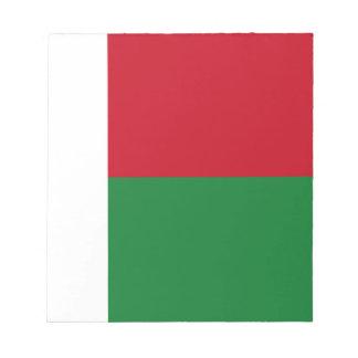 Madagascar flag notepad