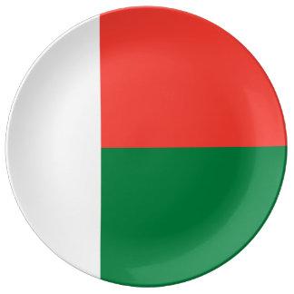 Madagascar Flag Porcelain Plates