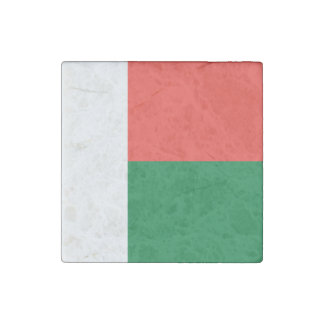 Madagascar Flag Stone Magnets