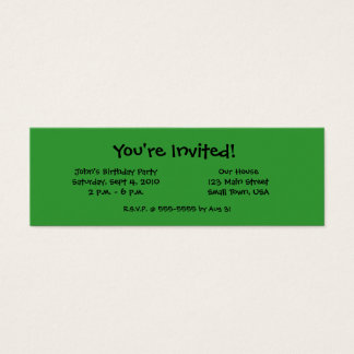 Madagascar Giant Day Gecko Mini Invitation Cards