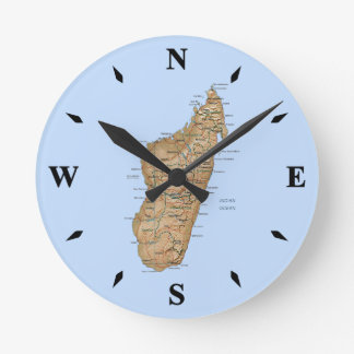 Madagascar Map Clock