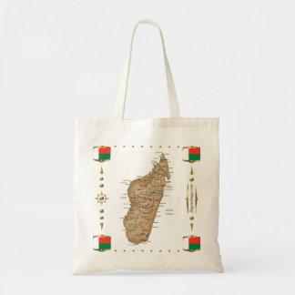 Madagascar Map + Flags Bag