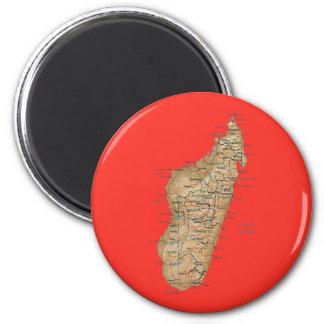 Madagascar Map Magnet