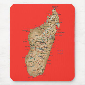 Madagascar Map Mousepad