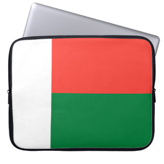 Madagascar National World Flag Laptop Sleeve