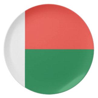 Madagascar National World Flag Plate