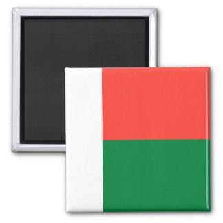 Madagascar National World Flag Square Magnet